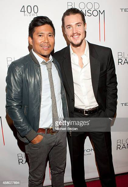 Actors Darion Basco and Alexander Dreymon attend the Los Angeles Premiere Of 'Blood Ransom' on October 28 2014 in Los Angeles California