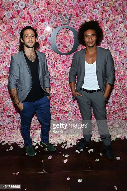 Actors Daris Homayoun and Ismael CruzCordova attend the Pandora Rose Launch Party during MercedesBenz Fashion Week at Empire Hotel on September 5...