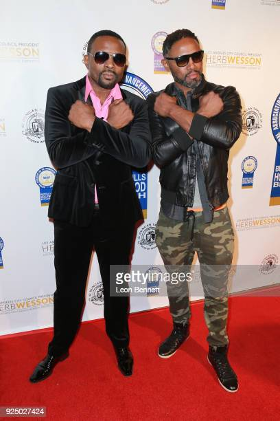Actors Darius McCrary and Donovan McCrary attends the 27th Annual NAACP Theatre Awards at Millennium Biltmore Hotel on February 26 2018 in Los...