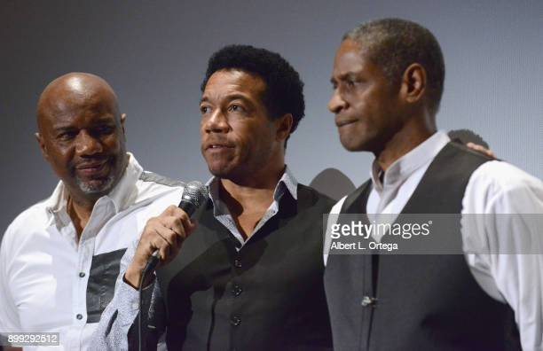 Actors Darnell Davis Rico E Anderson and Tim Russ participate in the QA at the Cast And Crew Screening Of 5th Passenger held at TCL Chinese 6...