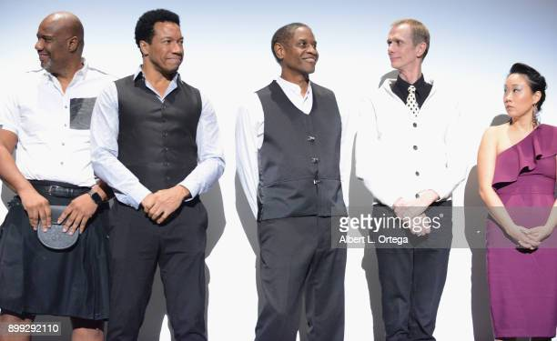 Actors Darnell Davis Rico E Anderson Tim Russ Doug Jones and Ann Hu participate in the QA at the Cast And Crew Screening Of 5th Passenger held at TCL...
