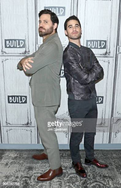 Actors Darren Criss and Edgar Ramirez attend the Build Series to discuss 'The Assassination of Gianni Versace American Crime Story' at Build Studio...