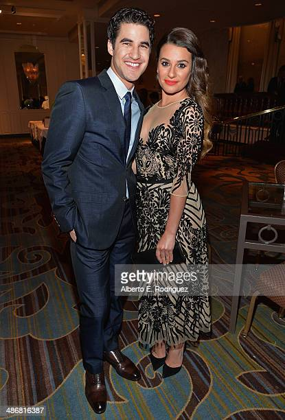 Actors Darren Criss and Lea Michele attend the Jonsson Cancer Center Foundation's 19th Annual A Taste For A Cure at The Regent Beverly Wilshire Hotel...