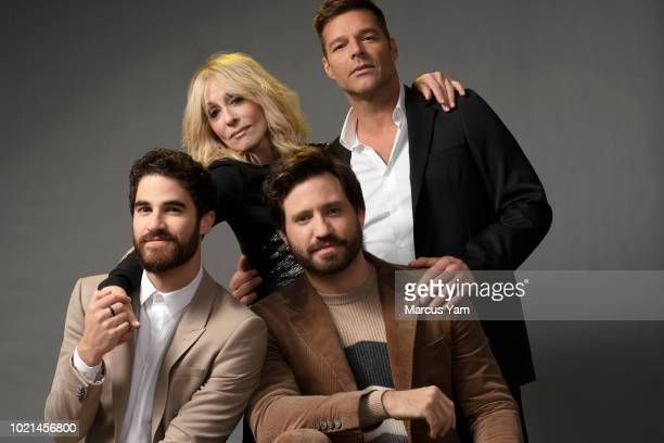 Actors Darren Criss Judith Light Edgar Ramirez and Ricky Martin are photographed for Los Angeles Times on March 19 2018 in Los Angeles California...