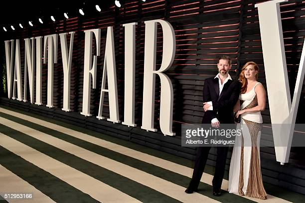 Actors Darren Le Gallo and Amy Adams attend the 2016 Vanity Fair Oscar Party hosted By Graydon Carter at Wallis Annenberg Center for the Performing...