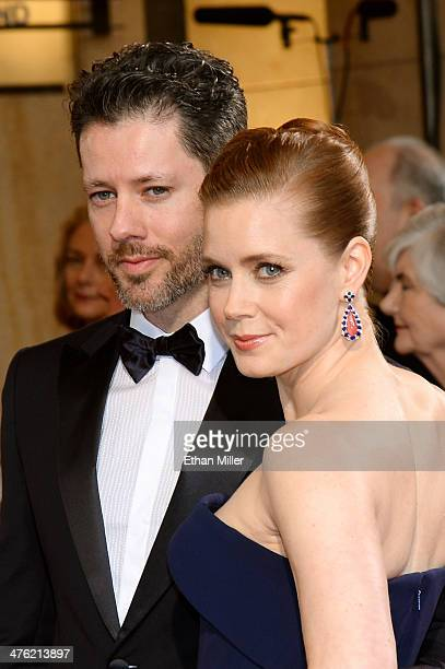 Actors Darren Le Gallo and Amy Adams attend the Oscars held at Hollywood Highland Center on March 2 2014 in Hollywood California