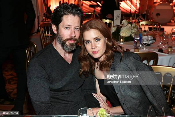 Actors Darren Le Gallo and Amy Adams attend The Weinstein Company's Academy Awards Nominees Dinner in partnership with Chopard DeLeon Tequila FIJI...