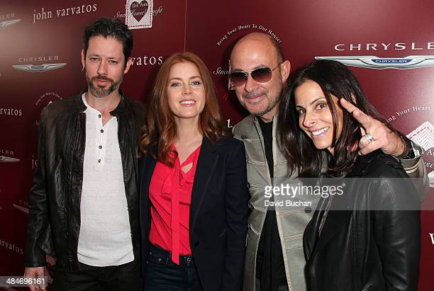 Actors Darren Le Gallo and Amy Adams with designer John Varvatos and Joyce Varvatos attends the 11th Annual John Varvatos Stuart House Benefit at...