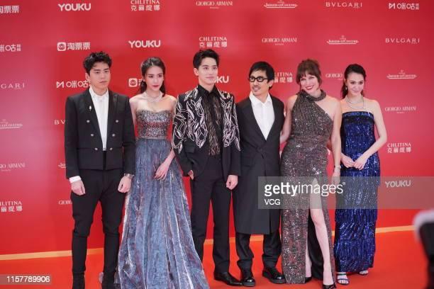 Actors Darren Wang Talu Liu Meitong Xu Weizhou director Alan Yuen Milla Jovovich and Sandrine Pinna attend the Closing and Golden Goblet Awards...