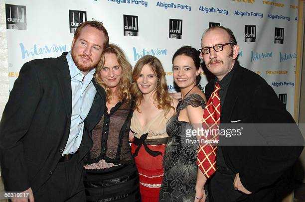 Actors DarrenGoldstein Lisa Emery Jennifer Jason Leigh Elizabeth Jasicki and Max Baker arrive at the opening night party for Abigail's Party at...