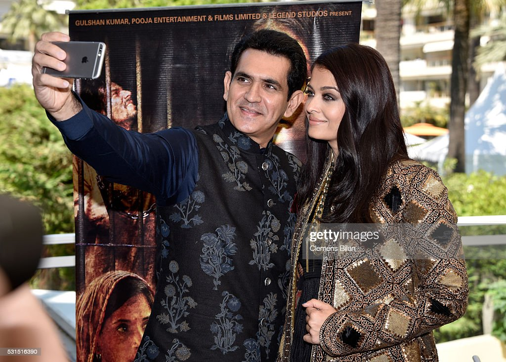 Actors Darshan Kumaar and Aishwarya Rai attend 'Sarbjit' Photocall during The 69th Annual Cannes Film Festival at the Palais des Festivals on