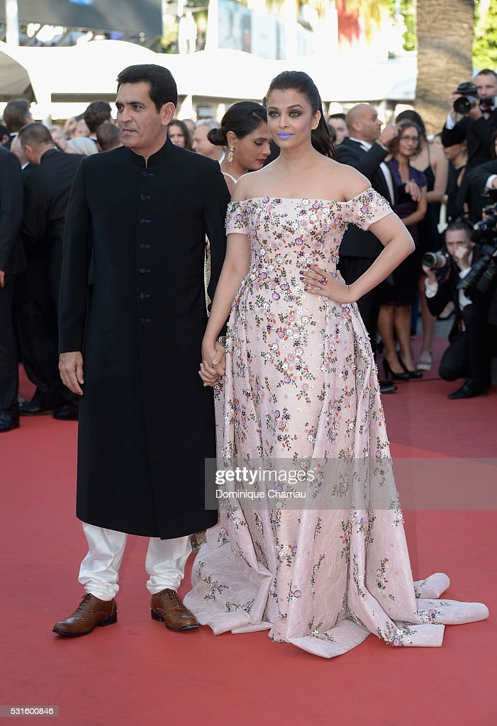 Actors Darshan Kumaar and Aishwarya Rai attend the 'From The Land Of The Moon ' premiere during the 69th annual Cannes Film Festival at the Pa