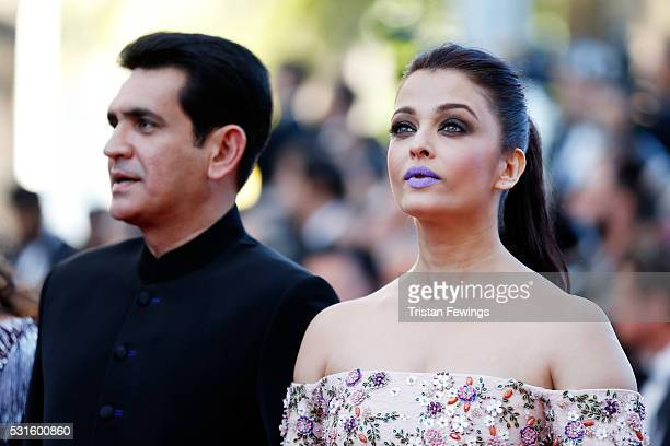 Actors Darshan Kumaar and Aishwarya Rai attend the 'From The Land Of The Moon ' premiere during the 69th annual Cannes Film Festival at the Palais...