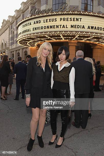 Actors Daryl Hannah and Doona Bae attend the 24th Annual Environmental Media Awards presented by Toyota and Lexus at Warner Bros Studio on October 18...