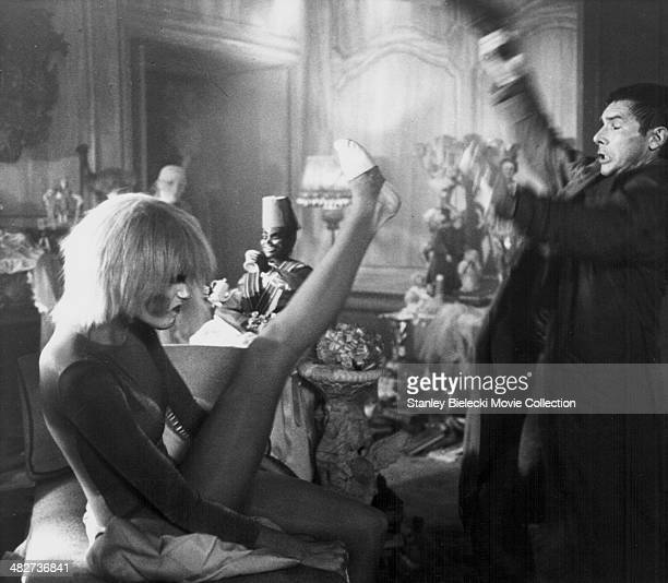 Actors Daryl Hannah and Harrison Ford in a scene from the movie 'Blade Runner' 1982