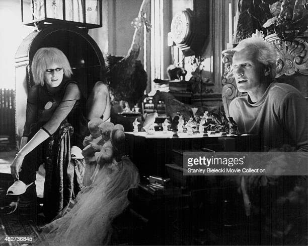 Actors Daryl Hannah and Rutger Hauer in a scene from the movie 'Blade Runner' 1982