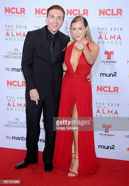 Actors Daryl Sabara and Alexa Vega pose in the press room at the 2013 NCLA ALMA Awards at Pasadena Civic Auditorium on September 27 2013 in Pasadena...