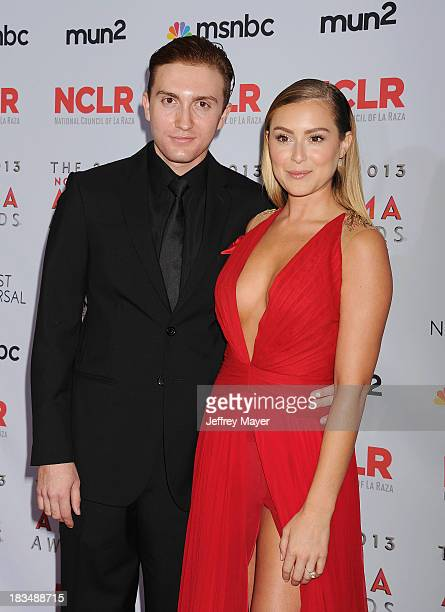 Actors Daryl Sabara and Alexa Vega pose in the press room at the 2013 NCLA ALMA Awards at Pasadena Civic Auditorium on September 27 2013 in Pasadena...
