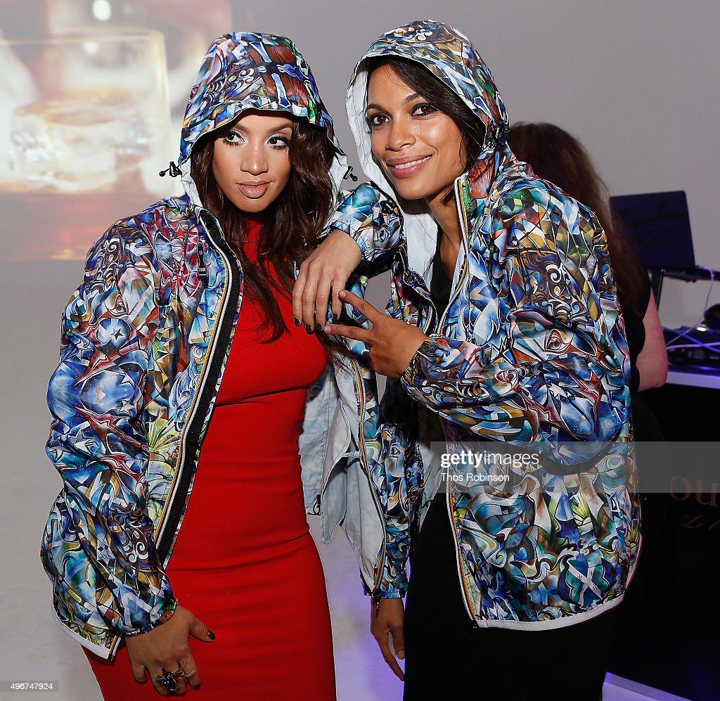 Actors Dascha Polanco (L) and Rosario Dawson attend Courvoisier Cognac's Exceptional Journey Campaign Celebration on November 11, 2015 in New York City.