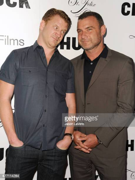 Actors Dash Mihok and Liev Schreiber attend the premiere of 'Chuck' at ArcLight Cinemas on May 2 2017 in Hollywood California