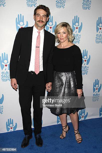 Actors Dave Abrams and Jennie Garth attend the 2nd annual Save a Child's Heart Gala held at Sony Pictures Studios on November 15 2015 in Culver City...