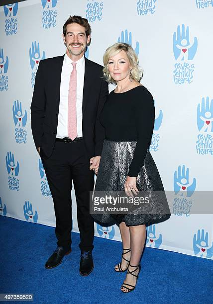 Actors Dave Abrams and Jennie Garth attend the 2nd Annual Save A Child's Heart Gala at Sony Pictures Studios on November 15 2015 in Culver City...