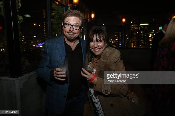 Actors Dave Foley and Crissy Guerrero attend the premiere of Seeso's Bajillion Dollar Properties Season 2 After Party at The Theatre at Ace Hotel on...