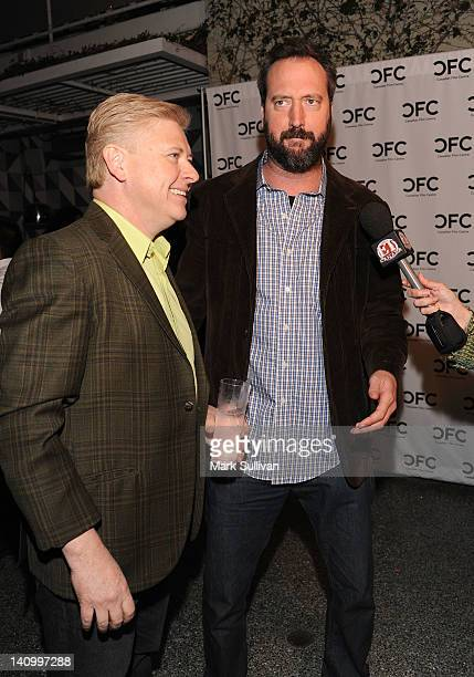 Actors Dave Foley and Tom Green attend the Canadian Film Centre cocktail reception celebrating strong US/Canadian partnerships on March 6 2012 in...