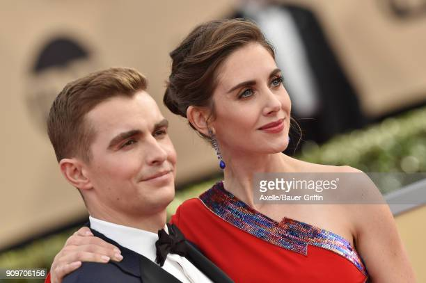 Actors Dave Franco and Alison Brie attend the 24th Annual Screen Actors Guild Awards at The Shrine Auditorium on January 21 2018 in Los Angeles...