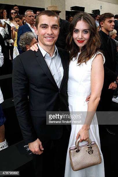 Actors Dave Franco and Alisson Brie attend the Dior Homme Menswear Spring/Summer 2016 show as part of Paris Fashion Week on June 27 2015 in Paris...