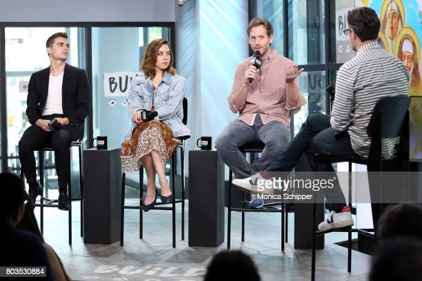 Actors Dave Franco and Aubrey Plaza and filmmaker Jeff Baena discuss 'The Little Hours' at Build Studio on June 29 2017 in New York City