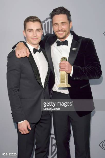 Actors Dave Franco and James Franco attend 19th Annual PostGolden Globes Party hosted by Warner Bros Pictures and InStyle at The Beverly Hilton Hotel...