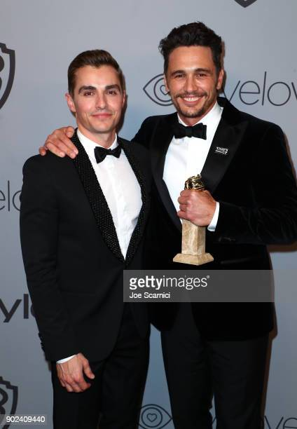 Actors Dave Franco and James Franco attend the 2018 InStyle and Warner Bros 75th Annual Golden Globe Awards PostParty at The Beverly Hilton Hotel on...