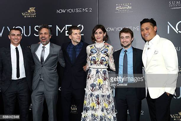 Actors Dave Franco Mark Ruffalo Jesse Eisenberg Lizzy Caplan Daniel Radcliffe and Directer Jon Chu attend Summit Entertainment presents the world...