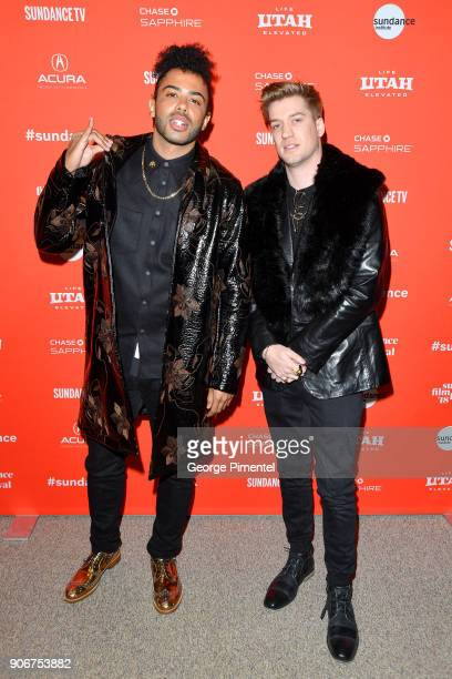 Actors Daveed Diggs and Rafael Casal attend the Blindspotting Premiere during the 2018 Sundance Film Festival at Eccles Center Theatre on January 18...