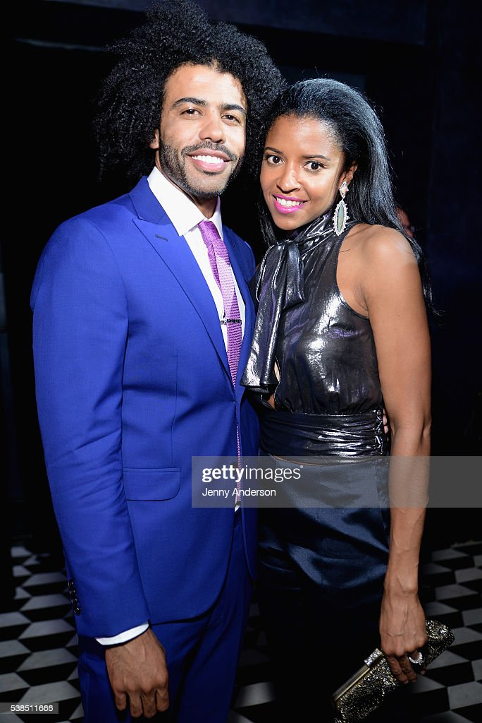Actors Daveed Diggs (L) and Renee Elise Goldsberry attend the Tony Honors Cocktail Party presenting the 2016 Tony Honors For Excellence In The Theatre and honoring the 2016 Special Award recipients at Diamond Horseshoe on June 6, 2016 in New York City.