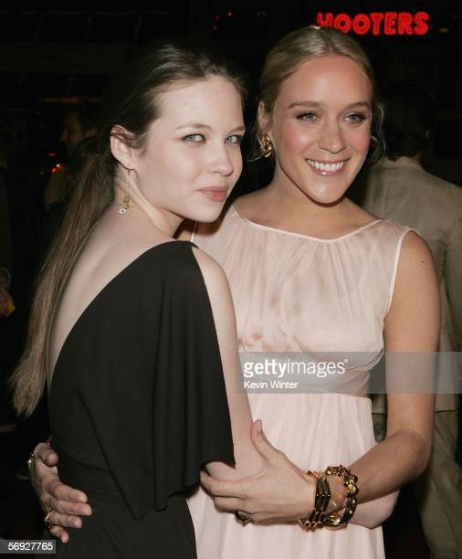 Actors Daveigh Chase and Chloe Sevigny pose at the premiere of the HBO Original Series Big Love at the Chinese Theater on February 23 2006 in Los...