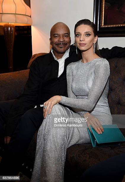 Actors David Alan Grier and Angela Sarafyan attend the Entertainment Weekly Celebration of SAG Award Nominees sponsored by Maybelline New York at...