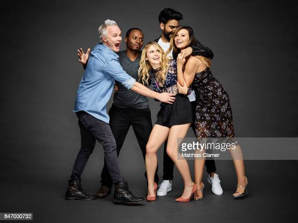Actors David Anders Malcolm Goodwin Rose McIver Rahul Kohli and Aly Michalka from 'iZombie' are photographed for Entertainment Weekly Magazine on...