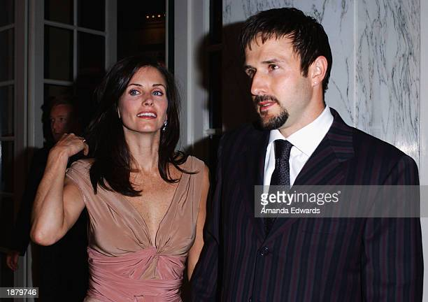 Actors David Arquette and Courteney Cox Arquette arrive at the Wellness Community of West Los Angeles Human Spirit Awards Gala at the Regent Beverly...