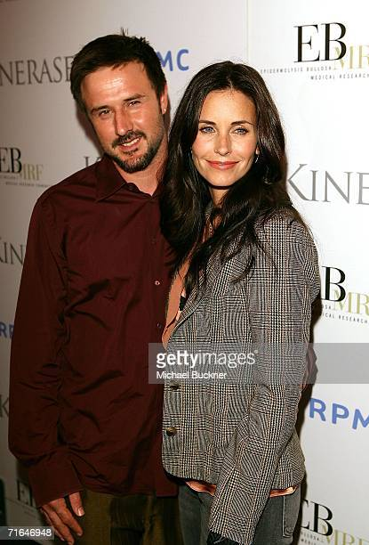 Actors David Arquette and Courteney Cox arrive at the 'Night at the Comedy Store' benefitting the EB Medical Research Foundation at the Comedy Store...