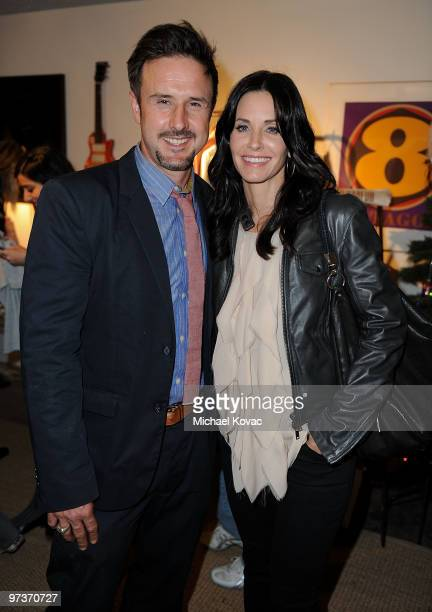 Actors David Arquette and sister Courteney Cox Arquette attend the Launch Party For New Darfur Awareness T-Shirt Line at Propr Store on December 17,...