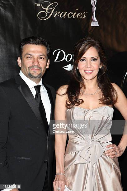Actors David Barrera and Maria CanalsBarrera arrive at the 36th Annual Gracie Awards Gala at The Beverly Hilton hotel on May 24 2011 in Beverly Hills...