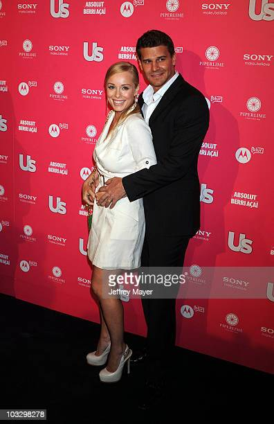 Actors David Boreanaz wife and Jaime Bergman attend the Us Weekly Hot Hollywood Style Issue Event at Drai's Hollywood on April 22 2010 in Hollywood...