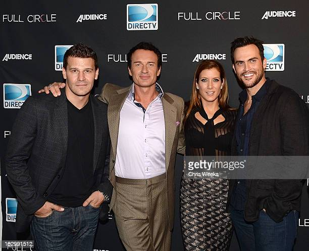 Actors David Boreanz Julian McMahon Kate Walsh and Cheyenne Jackson attend the launch of DIRECTV's newest original series Full Circle at Bagatelle on...