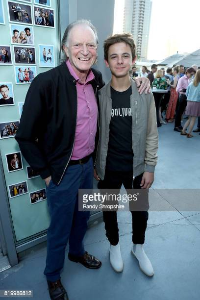 Actors David Bradley and Max Charles attend the Entertainment Weekly and FX After Dark event at the EW Studio during ComicCon at Hard Rock Hotel San...