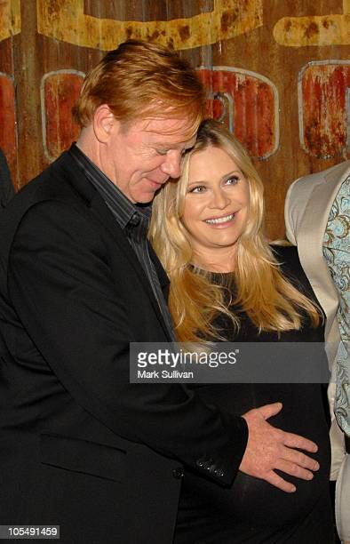 Actors David Caruso and Emily Procter attend CSI Miami Celebrates 200th Episode Celebration at Raleigh Manhattan Studios on October 15 2010 in...