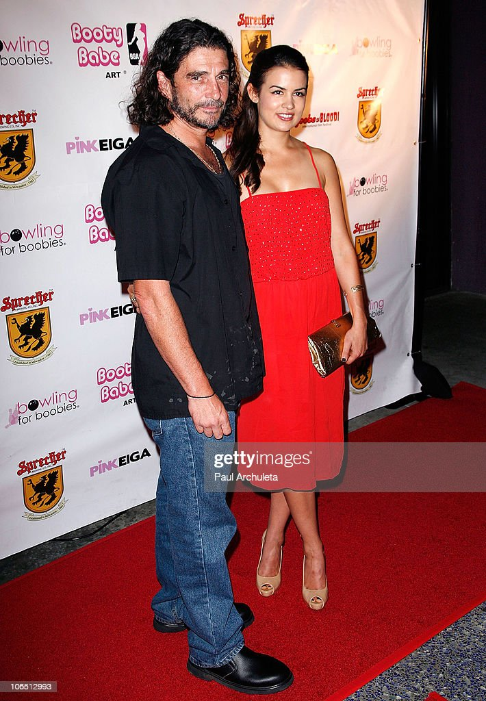 Actress Heather Whisenhunt and guest arrive at the Nude