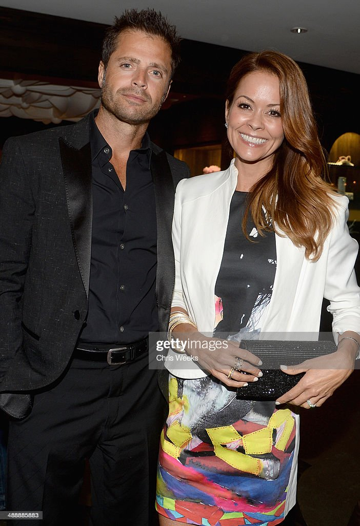 Actors David Charvet and Brooke Burke-Charvet attend Chrome Hearts & Kate Hudson Host Garden Party To Celebrate Collaboration at Chrome Hearts on May 8, 2014 in Los Angeles, California.