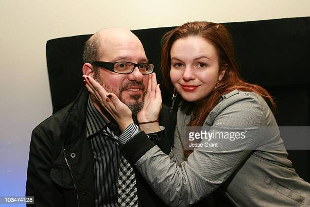 Actors David Cross and Amber Tamblyn attend the 2010 Absolut/Sundance Party at Easy Street Restaurant on January 19, 2010 in Park City, Utah.